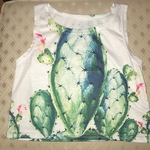 Cactus Cropped Tank Top 🌵